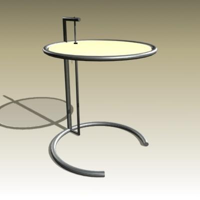 eileen gray table 3d model
