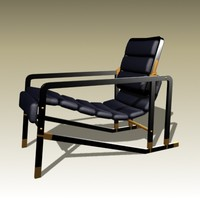 eileen gray transat chair 3d model