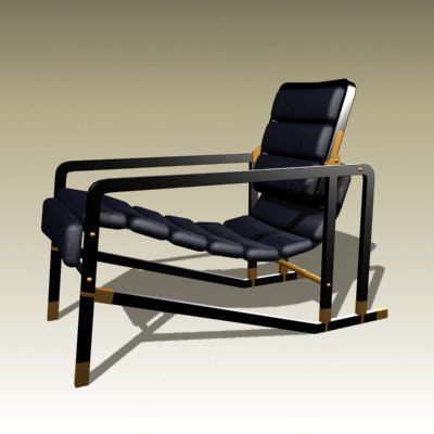 eileen gray transat chair 3d model