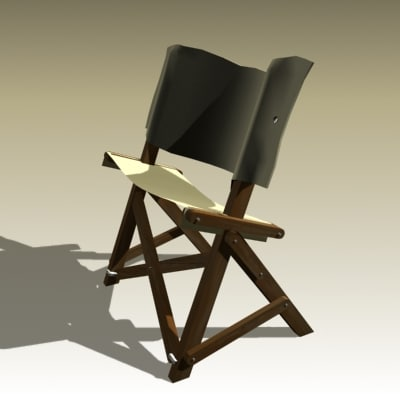 3d model anonymous folding chair