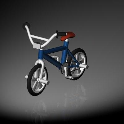 bmx bicycle 3d c4d