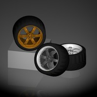 racing wheel 3d c4d