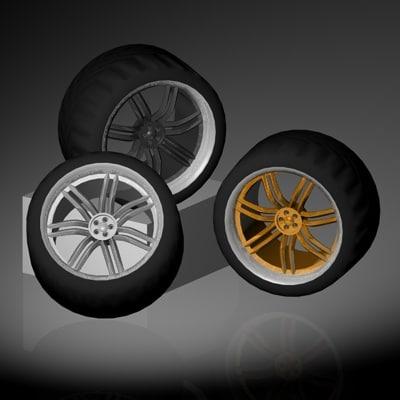 c4d racing wheel lip