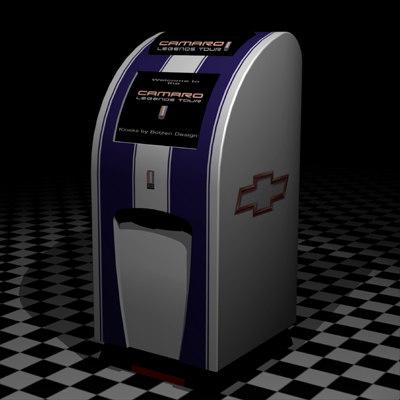 camaro kiosk 3d model