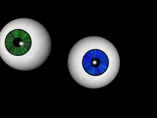 3ds max eye eyeball ball