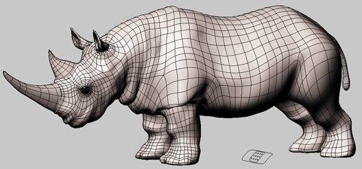 3d rhinoceros iges model
