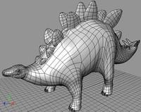 stegosaurus iges 3d model