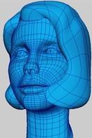 character head 3d model