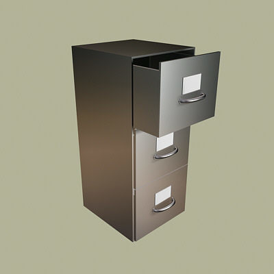 office file cabinet 3d model