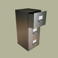 office file cabinet 3d model