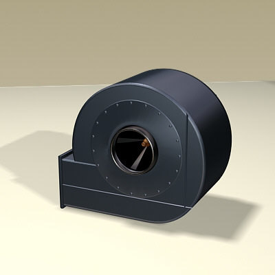 3ds max blower commercial air