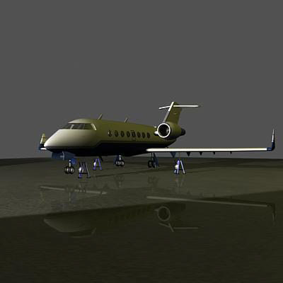 3ds max challenger plane