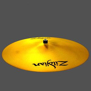 zildjian cymbal 3d model