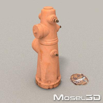 hydrant mosel3d street 3d model