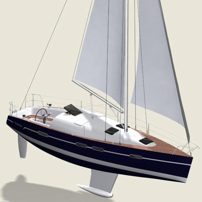 nautical sailboat yatch 3d model