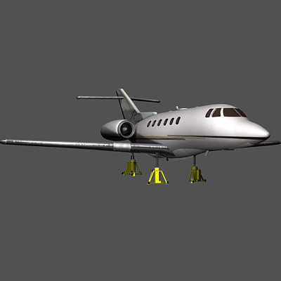 hawker plane 3d dxf