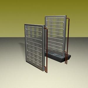 hot cold coils 3d model