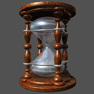 3d model hourglass hour glass