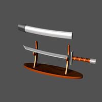 katana sword 3d 3ds