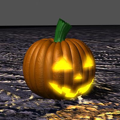 exploding pumpkin 3d model