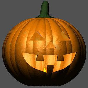 pumpkin pumpkinhead 3d model