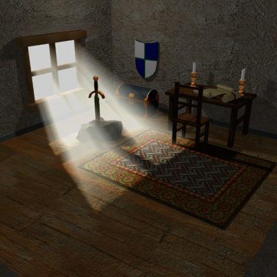 3d model medieval room