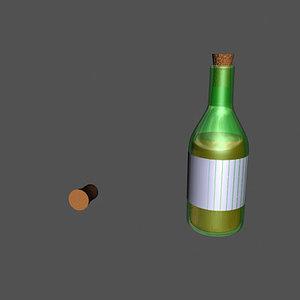 3d wine winebottle bottle