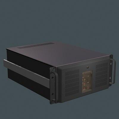 computer server 3d dxf