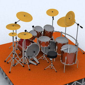 3d model drums kit