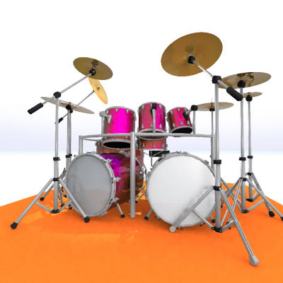 drum kit 3d lwo