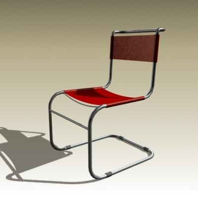 3d model mart stam chair