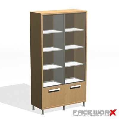 3d model cabinet office