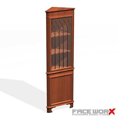 3d model shelf corner