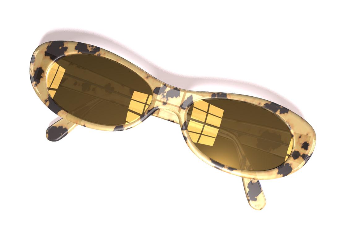 sunglasses glasses sun 3d ige