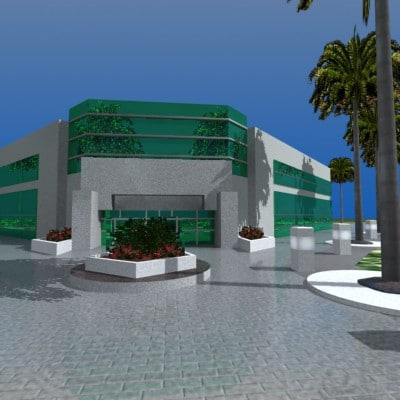 3ds max industrial office building
