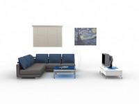 cellini living room 3d w3d