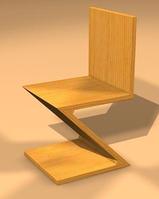 3d model zig chair designer zigzagchair