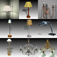 lamp collections 3d max