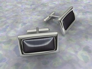 free cufflinks 3d model