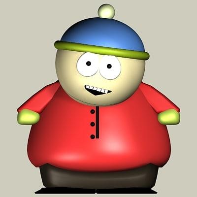 cartman southpark 3d model