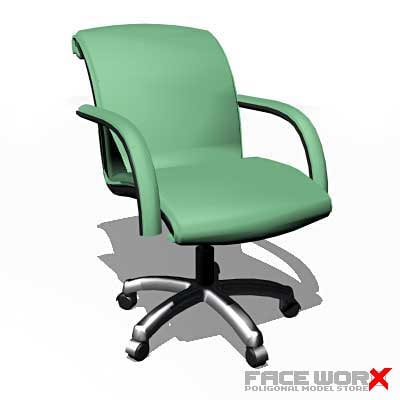 3d chair office model