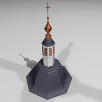 3ds max church tower