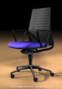metric office chair 3d model