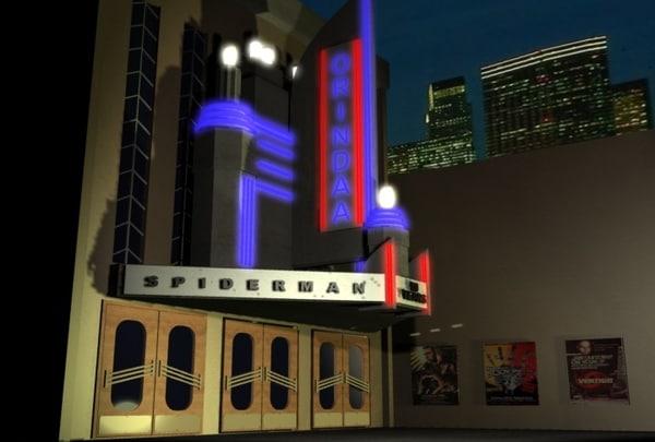 3d model art deco building entrance
