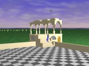 escher illusion building 3d model