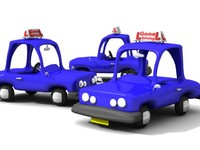 3d toon learner car model