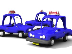 3d toon learner car model