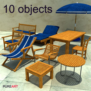 furniture armchair chair mawi 3d model