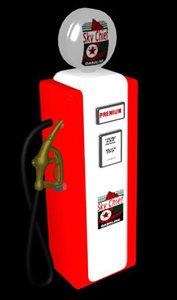texaco gasoline pump 3d max