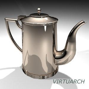 3d teapot coffeepot model
